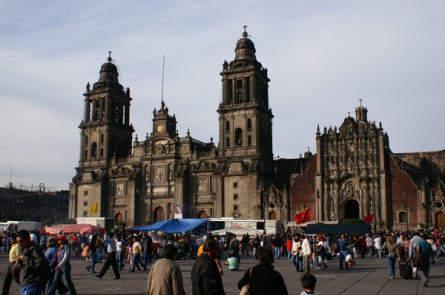 Mexiko-City - Kathedrale auf dem Zócalo