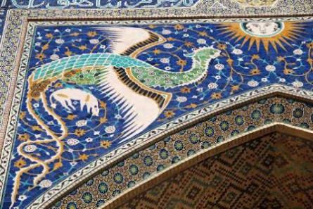Detail eines Portals in Buchara