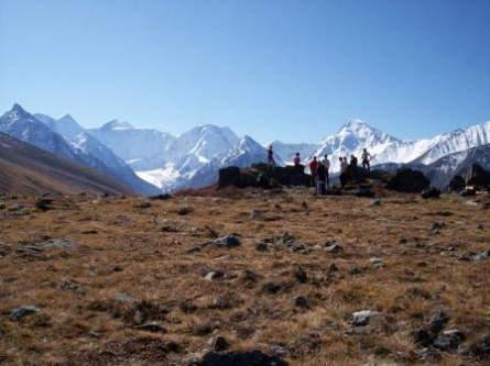 Aussicht auf die Zarin des Altai, die Belucha