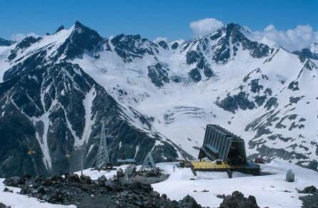 Die Station MIR als Endpunkt der Elbrusseilbahn auf 3500 m ü NN.