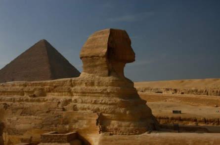 Sphinx und die Pyramiden von Giseh