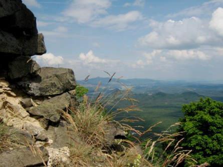 Blick zum Jeschkengebirge