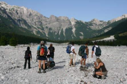 Wanderung im Valbona-Tal, Albanische Alpen