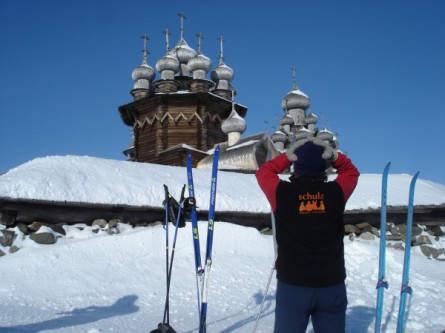 Skitour in Russisch-Karelien. Auf der Insel Kischi