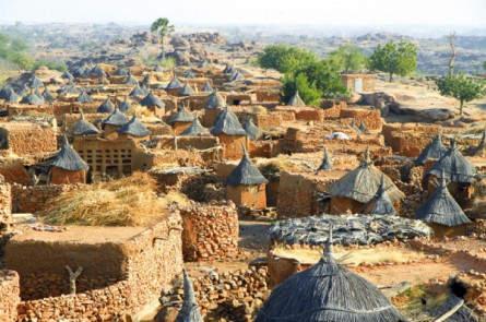 Traditionelles Dorf im Dogonland