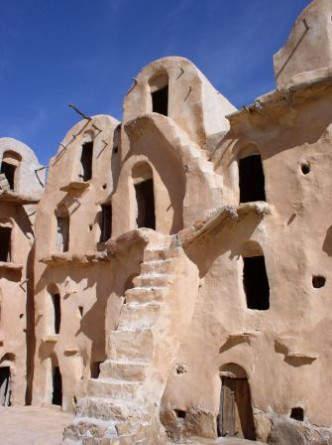Eine Ksarburg in Tunesien