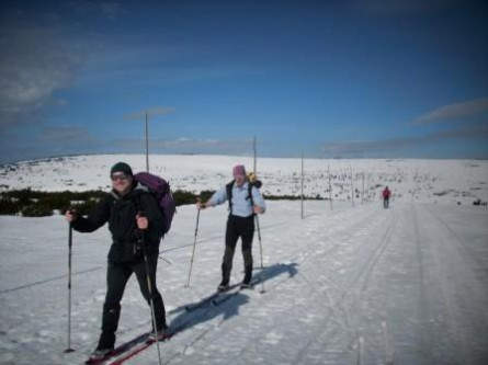 Skilanglauf im Riesengebirge