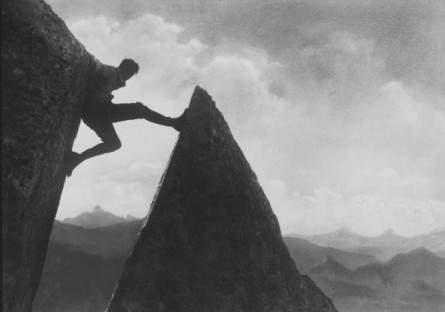 Bergsteigen anno 1924 (Foto ©: Archiv Matthias Fanck)