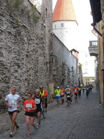 Durch die Altstadt auf dem letzten Teil der Strecke.