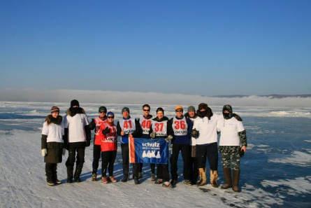 Baikal Ice Marathon - LG schulz aktiv 2010 vor dem Start
