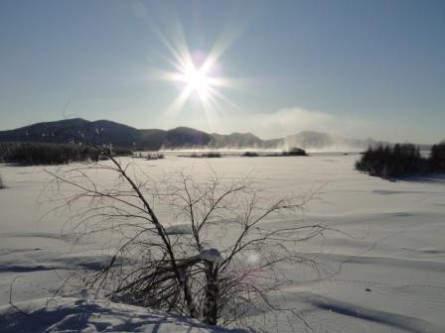 Zauberhafte Winterlandschaft Jakutiens