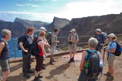 Unsere Wandergruppe auf der Halbinsel São Lourenço
