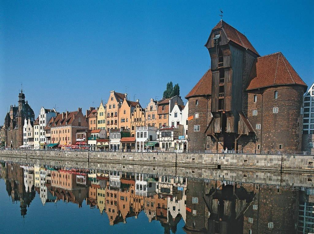 Die hübsche Altstadt von Gdańsk/Danzig