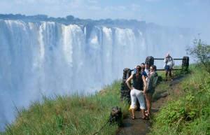 Imposanter Anblick: die Victoria-Wasserfälle