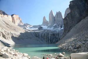 """Höhepunkt bei beiden Reisen nach einem ca. 4- bis 5-stündigen Aufstieg: die """"Torres del Paine"""""""