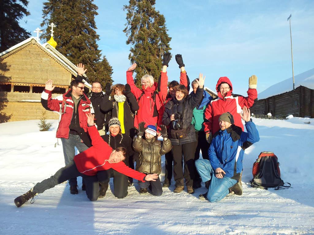 Es ging den Deutschen in Russland gut: viel Sonne, viel Schnee und viele Erlebnisse