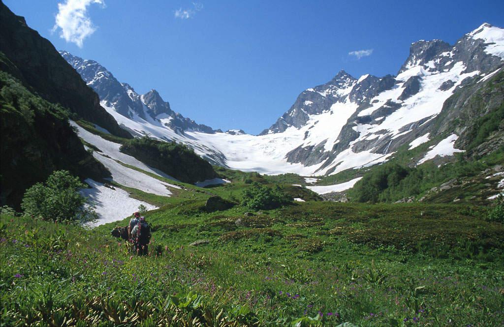 Wandern zwischen Gletschern und grünen Bergwiesen ...