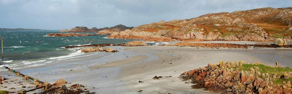 Sandstrand auf der Hebrideninsel Mull