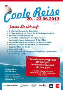 "Infoflyer: ""Coole Reise 2013"""