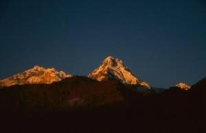 Morgenstimmung im Annapurna-Basislager
