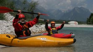 3-tägiger Kajak-Kurs auf der schönen Soca in Slowenien