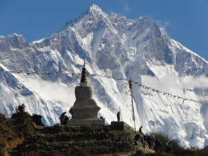 Der Lhotse in Nepal