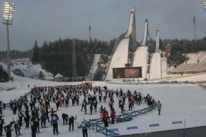 Start und Ziel des Worldloppets ist die legendäre Lahti Skiarena.