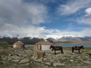Übernachtung in einer kirgisischen Jurte am Karakul-See