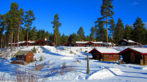 Unser idyllisch gelegenes Hüttendorf in Rättvik.