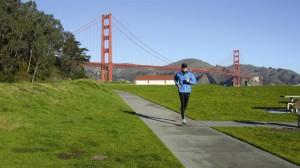 die legendäre Golden Gate Bridge wird sogar 2x laufend überquert.