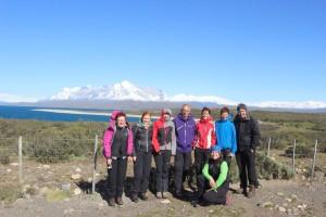 Perfektes Wetter, um das Trekking im Torres del Paine zu starten