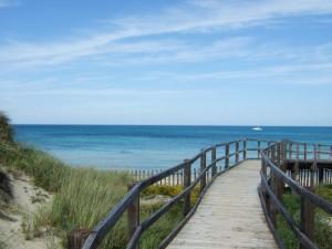 Am Strand von Apulien