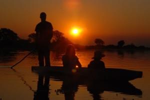 Mokoro im Okavango-Delta (Foto: U. Eltz)