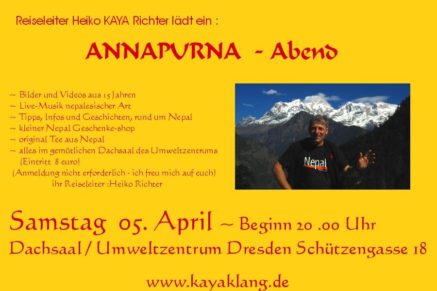 Einladung Annapurna Abend im Umweltzentrum