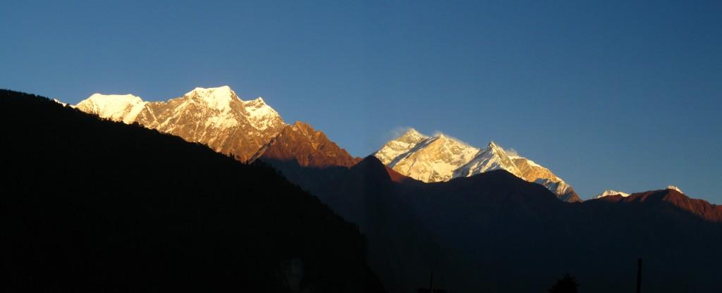 Blick auf die Annapurna-Kette