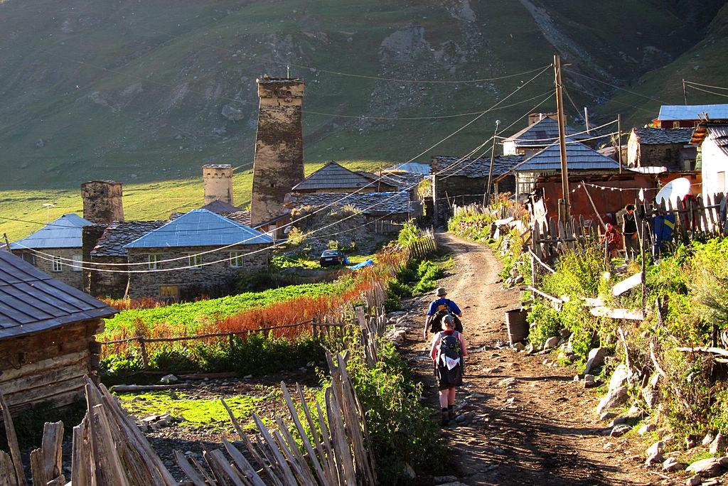Ursprüngliche Dörfer in Swanetien