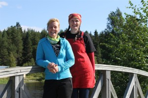 ....mit den Reiseleiterinnen Sirke und Minna