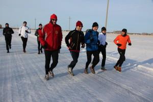 Neujahrslauf zum Nachbardorf - noch 6 Tage bis zum Siberian Ice Marathon