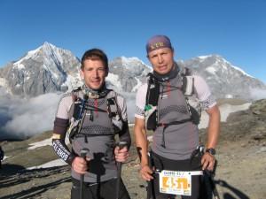 Holger Schmidt & Tell Wollert beim Transalpin Run 2013
