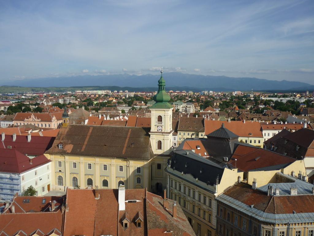 Blick von der Pfarrkirche in Sibiu
