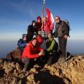 Unsere Gruppe am Gipfel des Rinjani (Juni 2014)
