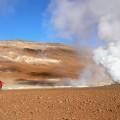 Geothermales Hochtemperaturgebiet am Mývatn mit Solfatoren, Fumarolen und Schlammtöpfen