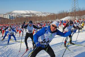 Frank Schulz beim Murmansk-Skimarathon