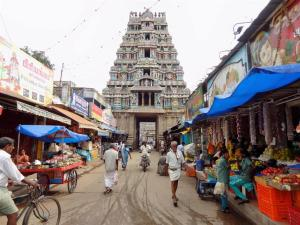 Gopuram-Turm im südindischen Architekturstil