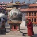 Szene am Bodnath - ein ganz besonderer Ort im sonst so quirligen Kathmandu.