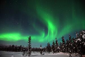 """Das Gewinnerbild des Fotowettbewerbs 2014 von Uwe Knöfel, entstanden auf der Reise """"Mit Huskys durch Finnisch-Lappland"""""""