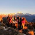 Unsere Weihnachten/Neujahres-Gruppe auf dem Poon Hill
