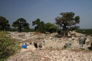 Friedhof bei Fadiouth, wo Muslime sowie Christen begraben werden.