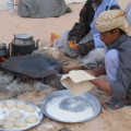 Frisches Beduinenbrot zum Frühstück