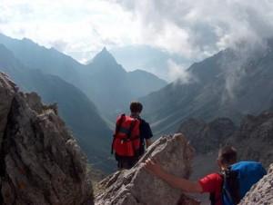 Ein magischer Augenblick über den Gipfeln der Alpen